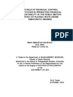 Financial Administration in Public Sector