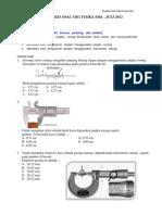 Prediksi Kompetensi Profesional UKG Fisika Sma_kelas x