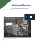 Understanding Vector Group of Transformer Full