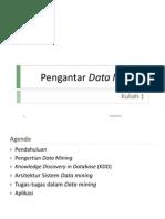 Kuliah 1 - Pengantar Data Mining