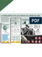 Infografía La problemática de las fuerzas del orden en Lima - María Pía Flores
