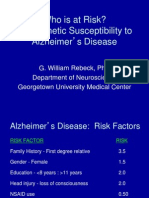 Who is at Risk? The Genetic Susceptibility to Alzheimer's Disease
