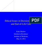 Ethical Issues in Decision-Making and End-of-Life Care