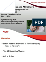 Family Caregiving and Alzheimer's Disease in an Aging America