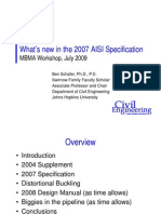 MBMA What's New in the AISI Spec 2009