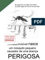 Cartaz A4 p/ Campanhas de Prevenção da Dengue