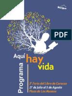 Programación Feria del Libro de Ccs