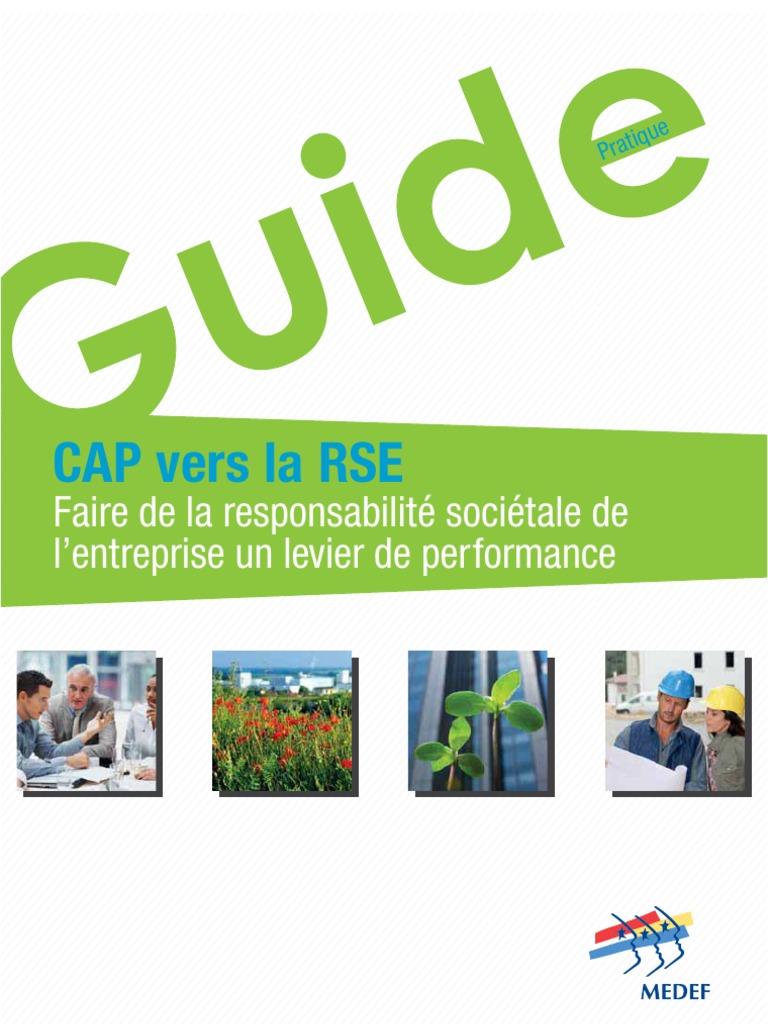 Vers Corrige Juin 2012 La Rse Cap Guide Medef hdtsQr