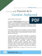 1.Esencia y Función de la Gestión Ambiental