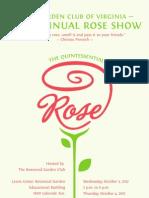 GCV 2012 Rose Show Schedule