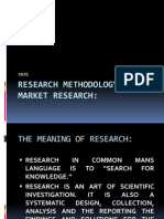 Research Methodology &Market Research