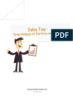 Sales Tax - From Widgets to Services and Beyond