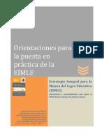 Orientaciones EIMLE 2011-2012