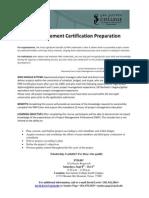 SJC - Project Management Certification Preparation