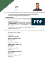 1 Resume of Mohammad Abdur Razzak