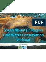 South Mountain Partnership Cold Water Webinar