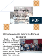 Ajedrez Deportivo vs Escolar