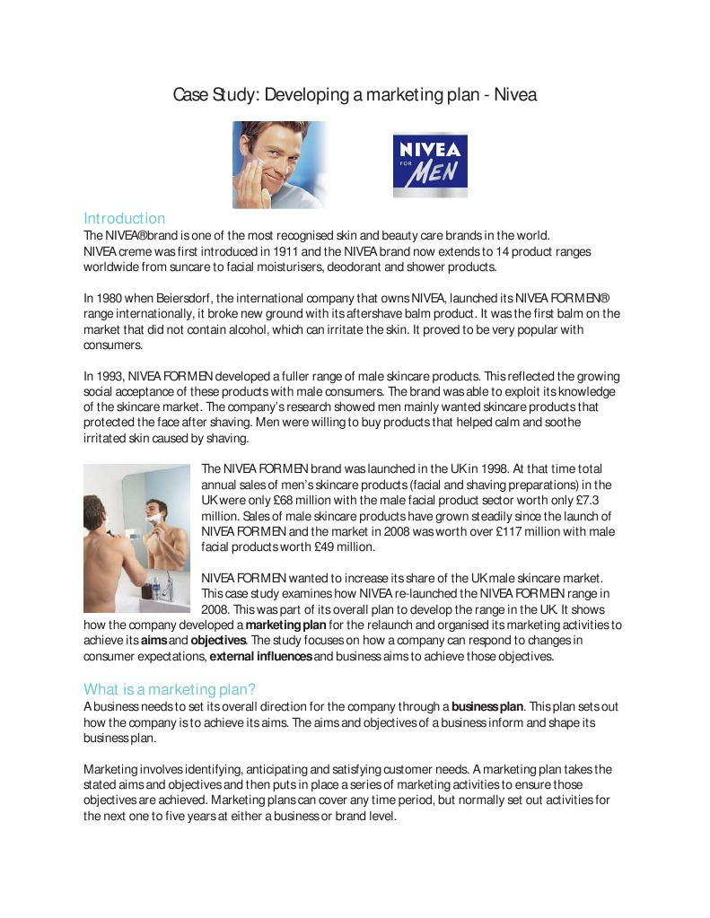 nivea marketing oriented organization case study Learn what a marketing-oriented company is and how a company can become more marketing-oriented see examples of marketing-oriented companies, and.