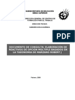 Manual Elaboracion de Reactivos Marzano