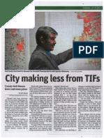 County Clerk David Orr explains lower TIF revenue