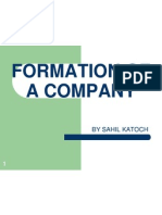 Formation of a Company 3