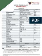 LISTA DE TEXTOS Y ÚTILES - 3° GRADO 2012-2013