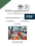 Boletín Rotario del 24 de julio de 2012