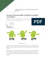 Task killers em celulares com Android
