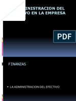 Adminsitracion de Efectivo