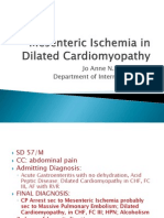 Mesenteric Ischemia in Dilated Cardiomyopathy