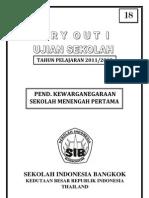 Soal Try Out US Pkn SMP dari KBRI di Thailand