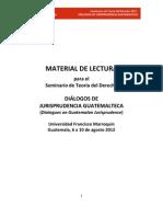 Diálogos de jurisprudencia guatemalteca