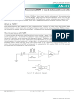 PSRR and Measurement of PSRR in Class-D Audio Amplifiers and LDOs - An-135