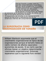 LA BUROCRACIA COMO MAXIMIZACION DE TAMAÑO