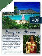 escape to hawaii - website sample copy