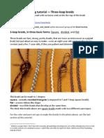 Finger loop braiding tutorial for 3-loop braids and more