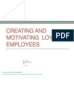 Creating and Maintaining Employee Loyalty