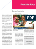 The Arca Foundation, by Matthew Vadum (Foundation Watch, October 2011)