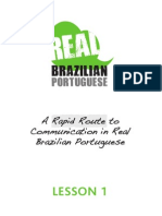 Real Brazilian Portugues Lesson1