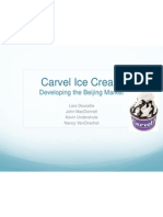 Marketing Management - Carvel Ppt