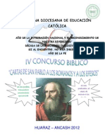 IV Concurso Biblico 2012