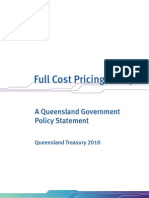 Full Cost Pricing Policy