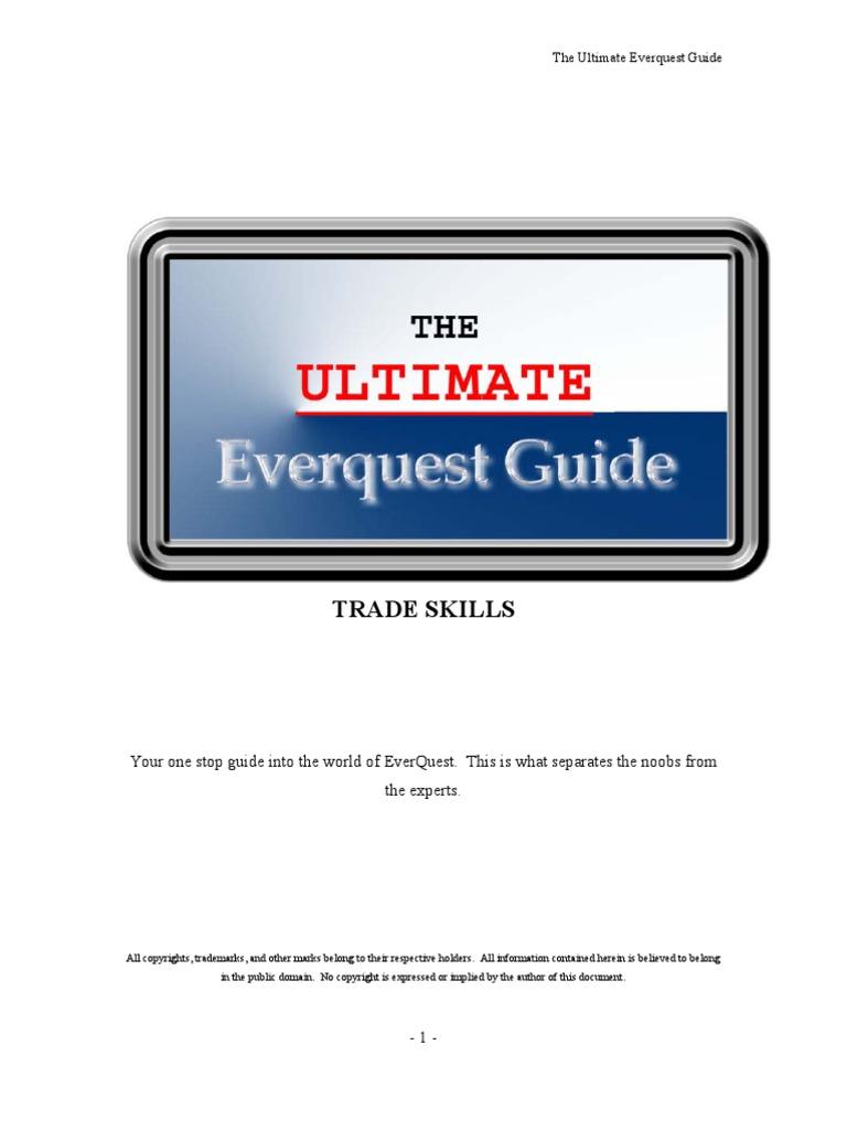 Everquest Guide Trade Skills | Magician (Fantasy) | Alchemy