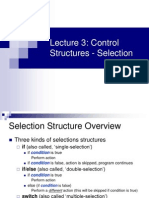 Lecture 3 Selection Structures
