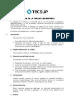 Puntos para un Informe Pasantia Empresa
