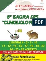 Locandina Sagra del Cunigliolo Fritto 2012 La Serra - San Miniato