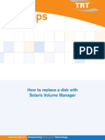 How to Replace Disk With Solaris Volume Manager