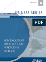 How to Calculate Export Costs for Agricultural Products