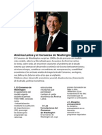 América Latina y el Consenso de Washington