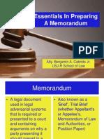 Memorandum Essentials